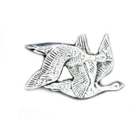 Geese Pewter Pin Badge